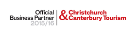 Offical business partner 2014-2015 Christchurch & Canterbury Tourism